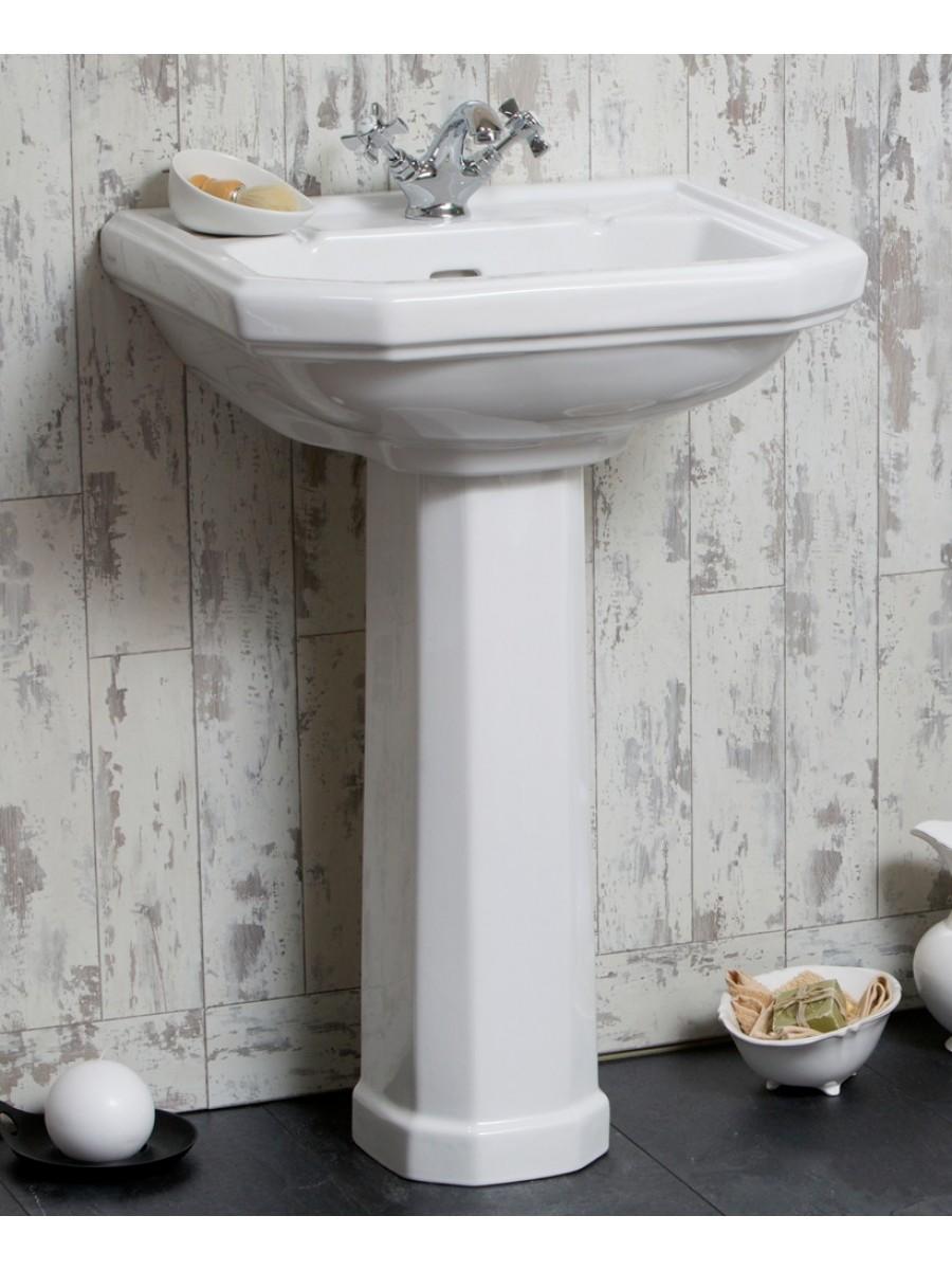 Twyford Clarice Basin 58cm & Pedestal (1TH)