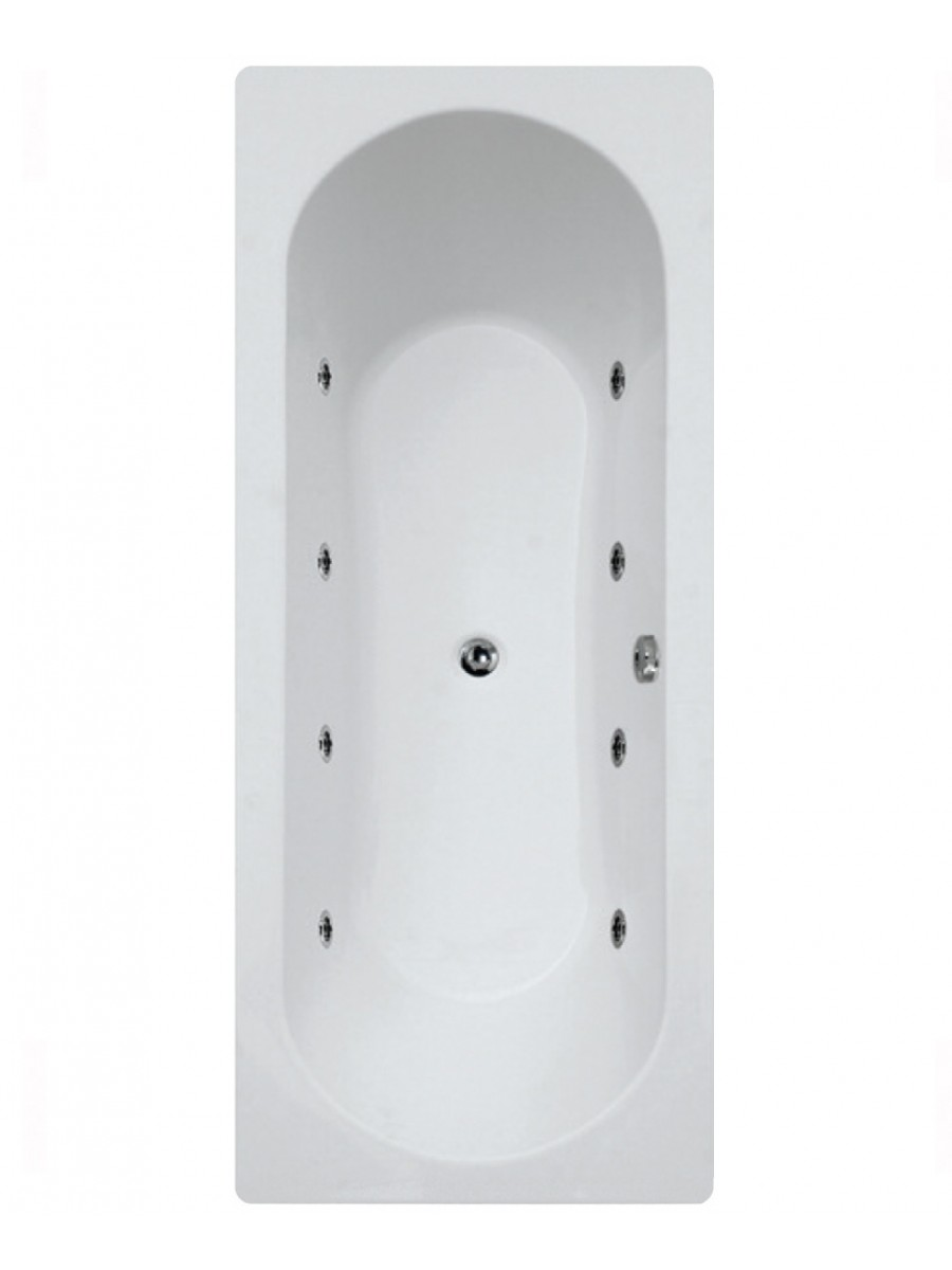Crofton  1800 x 800 Double Ended 8 Jet Whirlpool Bath