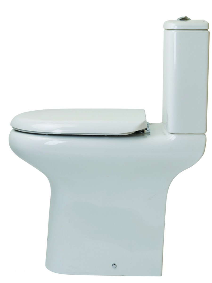 RAK Compact Close Coupled Toilet & Soft Close Seat - Comfort Height - PRICE INCLUDES PAN, CISTERN AND SEAT