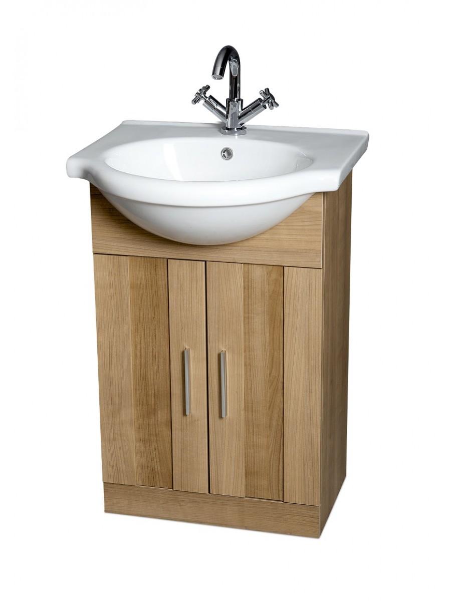 Cordoba Oak 55cm Vanity Unit & Basin
