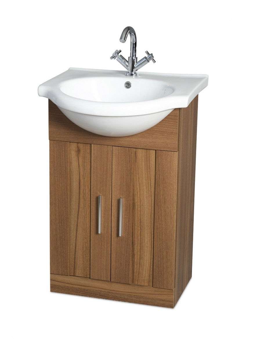 Cordoba Walnut 55cm Vanity Unit & Basin