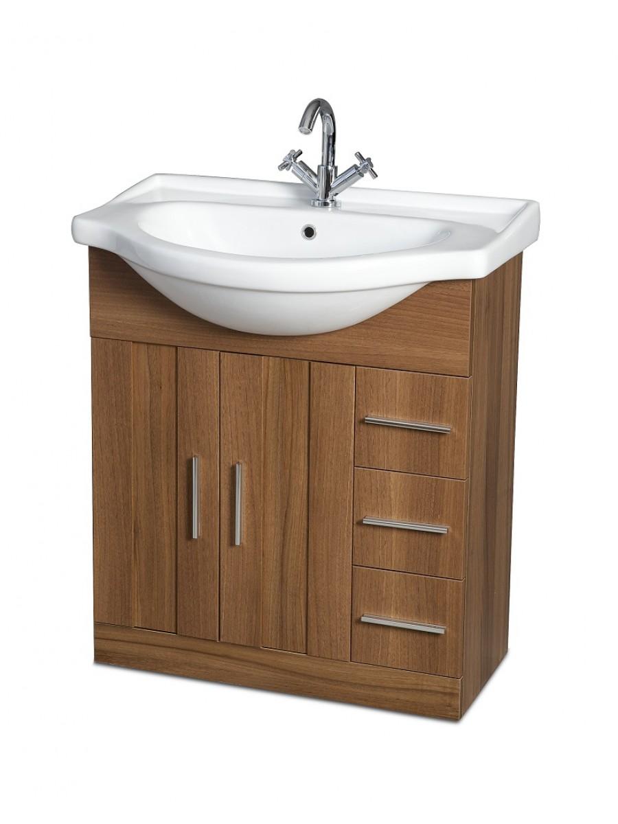 Cordoba Walnut 75cm Vanity Unit & Basin