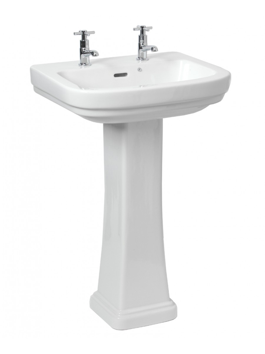 Rak Decor Basin 55cm Pedestal 2th Traditional Wash