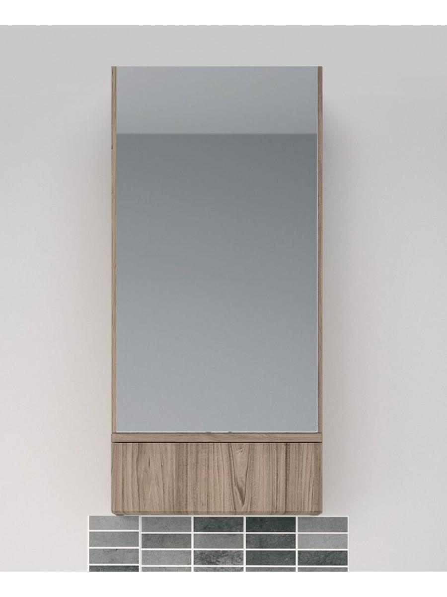 Twyford E100 Grey Ash Mirror Cabinet - 493mm
