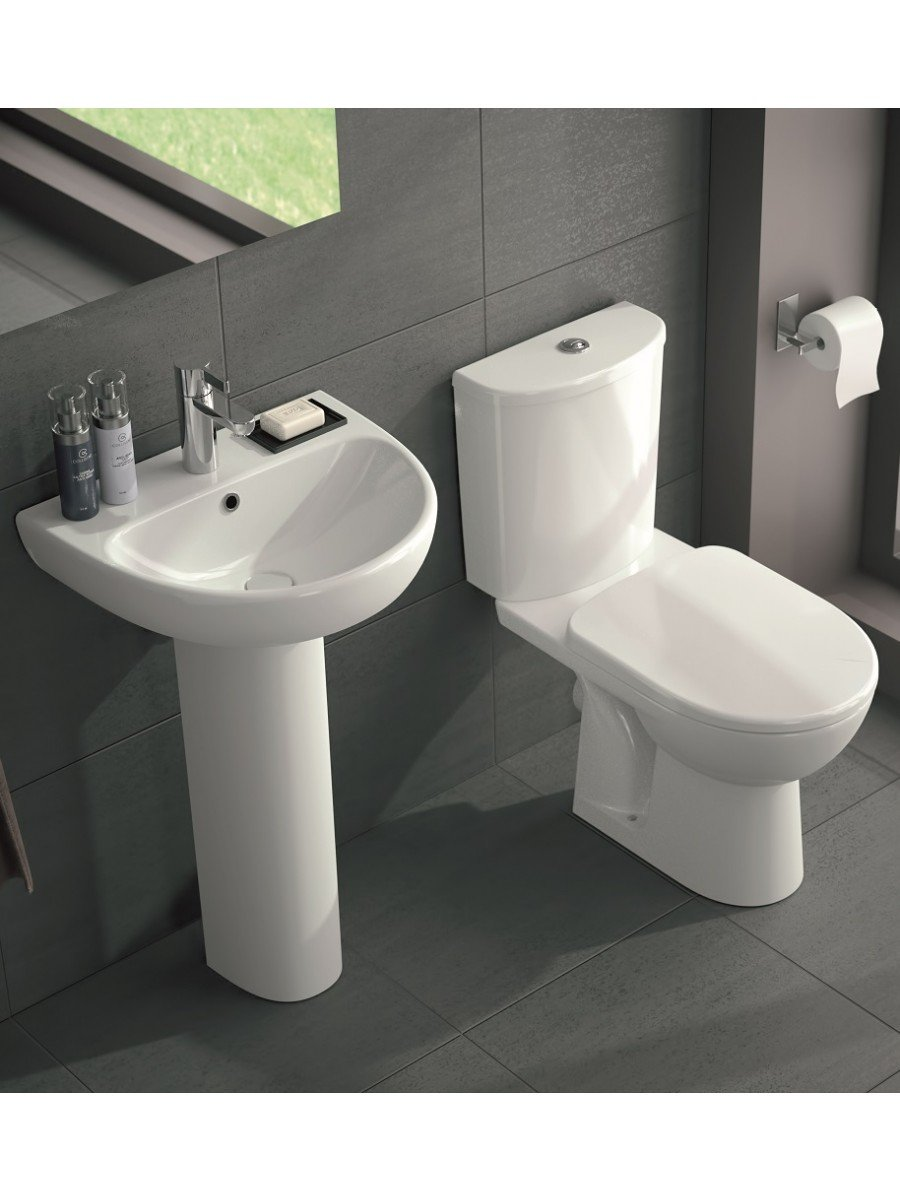 Twyford E100 Round Toilet and Wash Basin Set