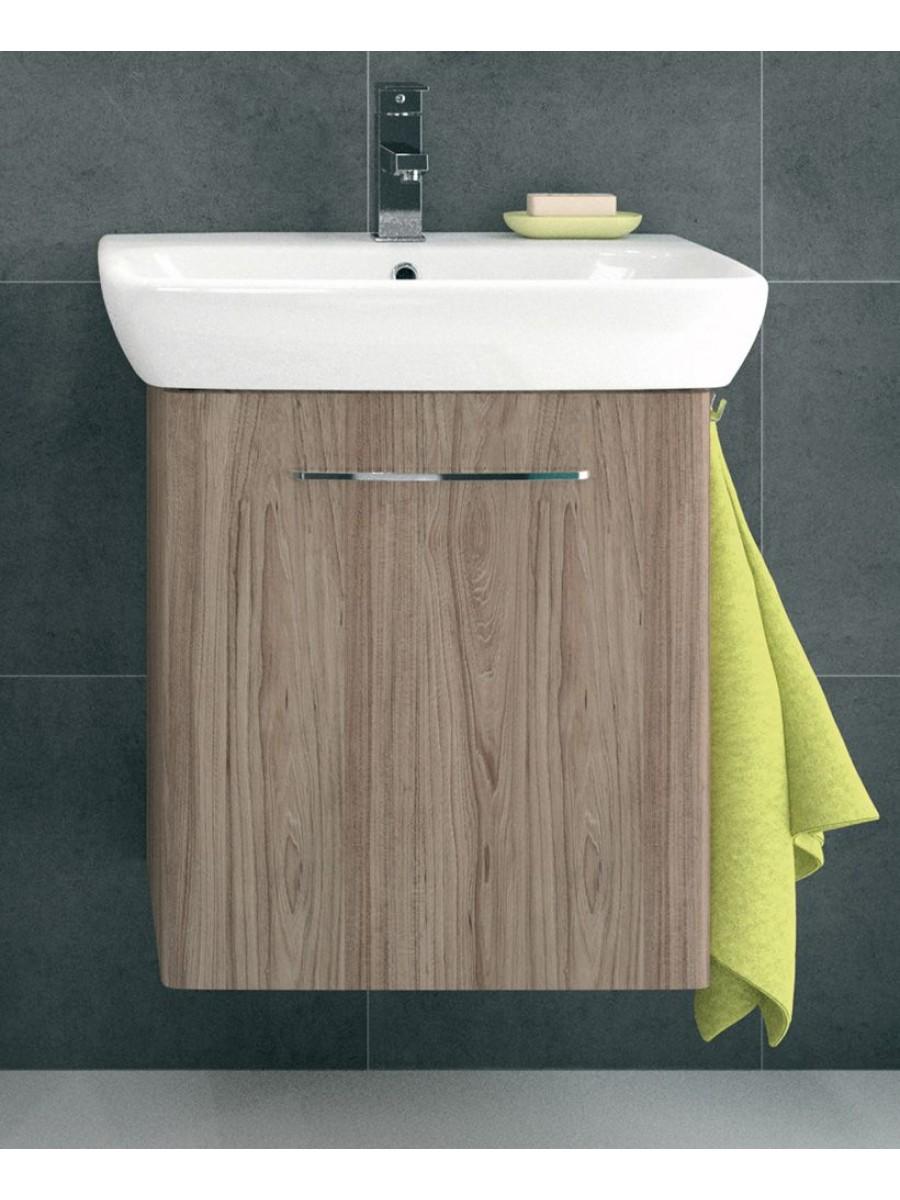 Twyford E100 550 Grey Ash Vanity Unit - Wall Hung