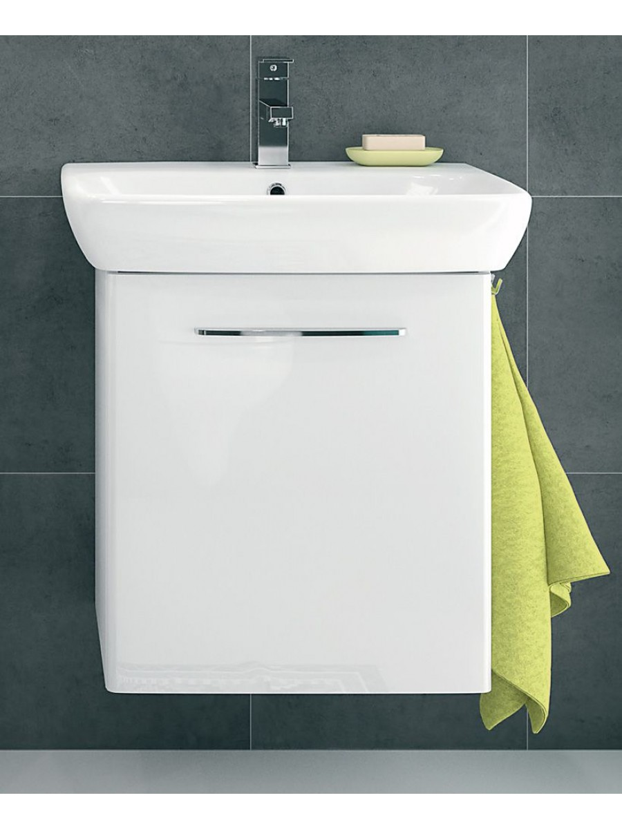 Twyford E100 550 White Vanity Unit - Wall Hung