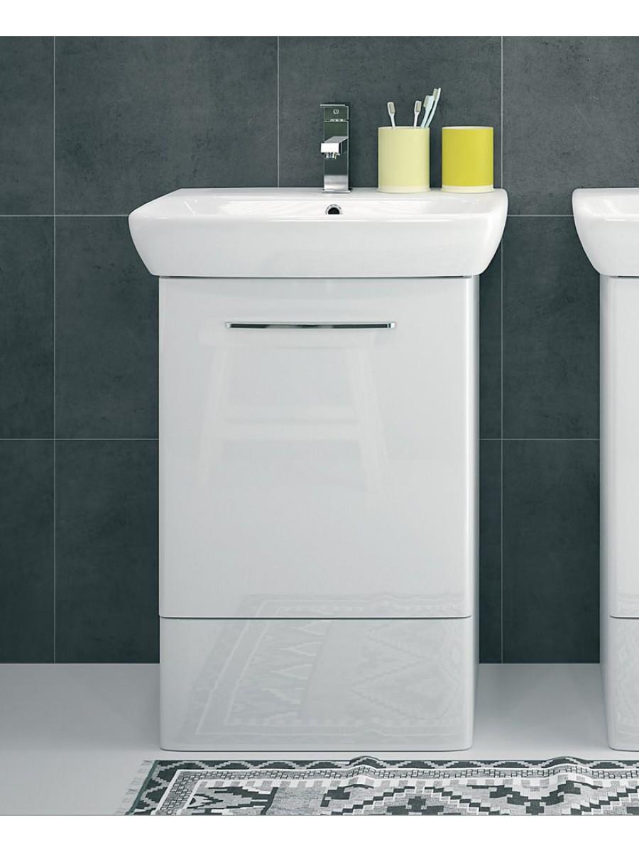 Twyford E100 600 White Vanity Unit - Floor Standing
