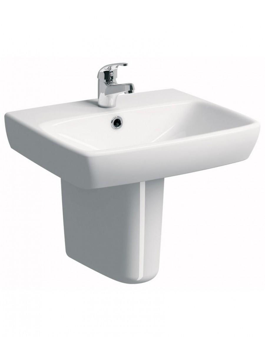 Twyford E100 Square 600 Basin & Semi Pedestal
