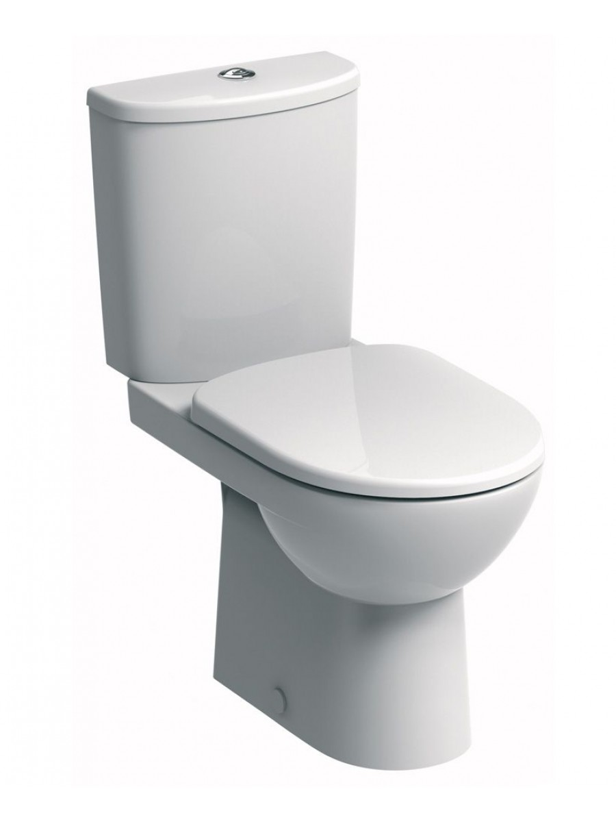 Twyford E100 Round Close Coupled Premium Toilet & Standard Seat