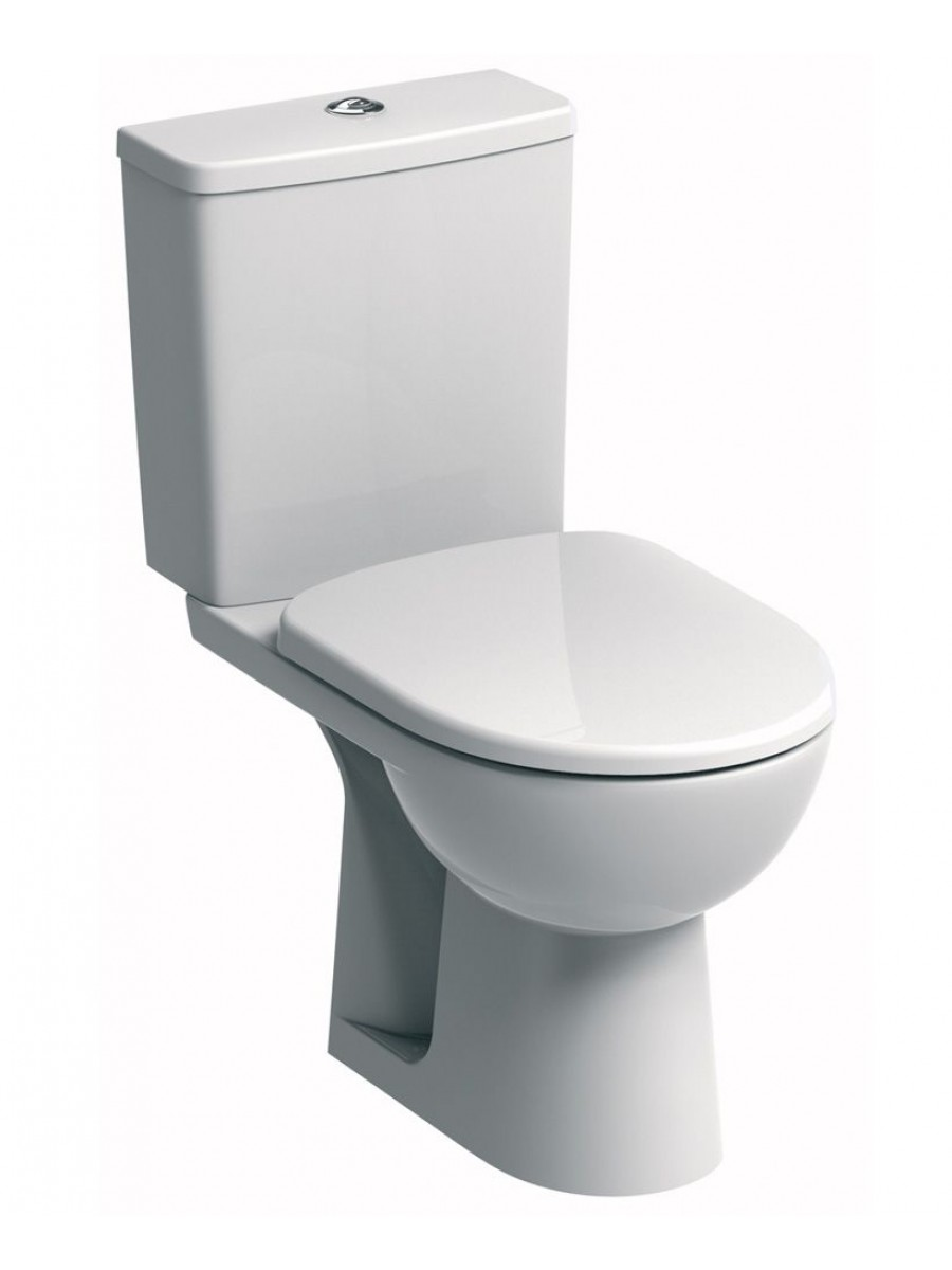 Twyford E100 Square Standard Close Coupled Toilet & Soft Close Seat