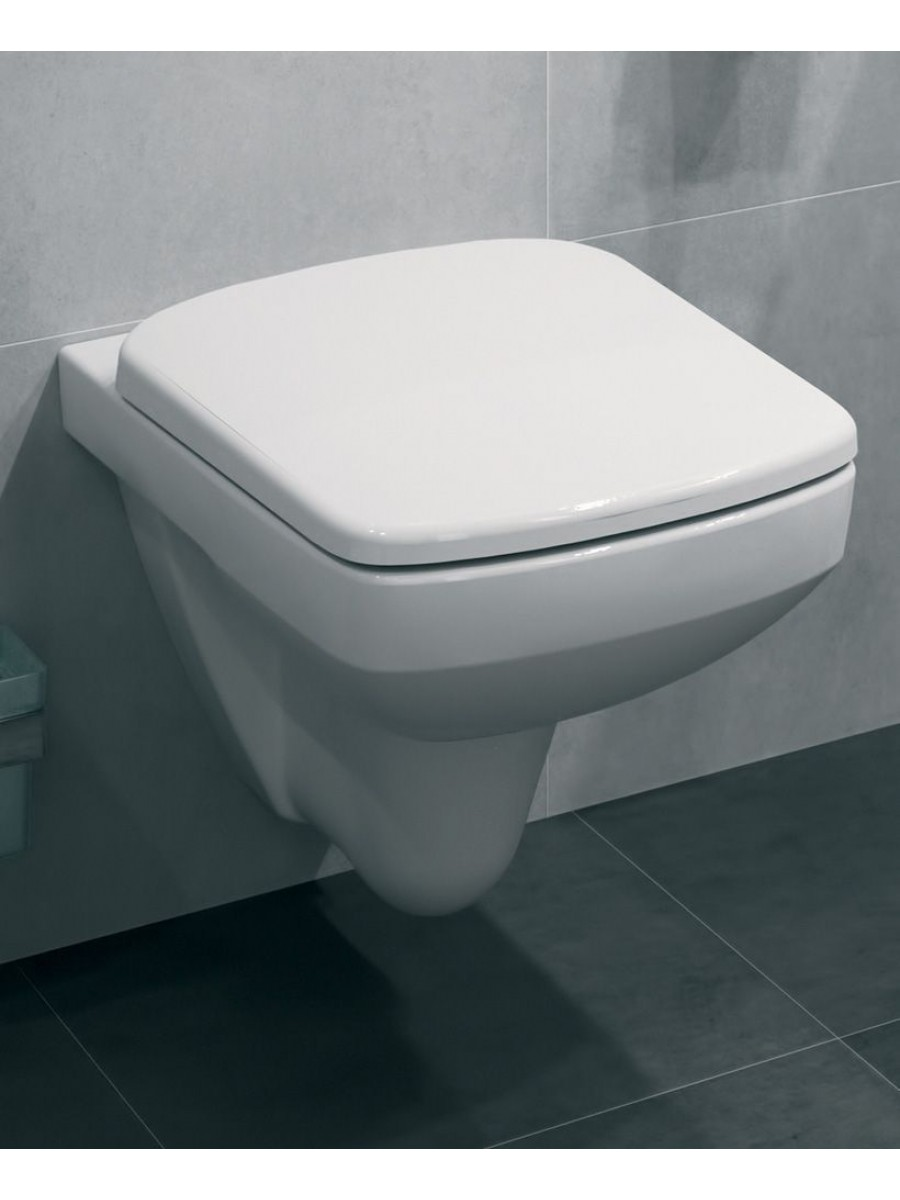 Twyford E100 Square Wall Hung Toilet & Standard Seat
