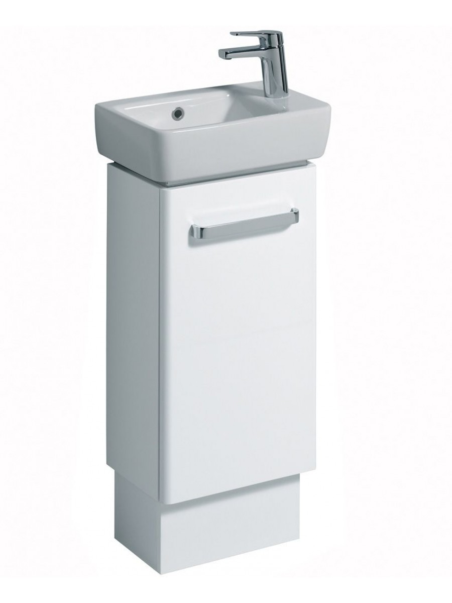 Twyford E200 400 White Vanity Unit Floor Standing RH Tap