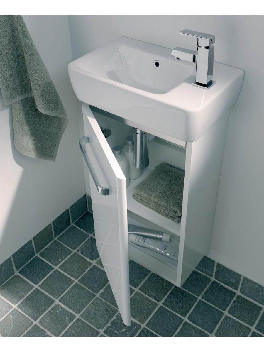 Twyford E200 400 White Vanity Unit Wall Hung RH Tap