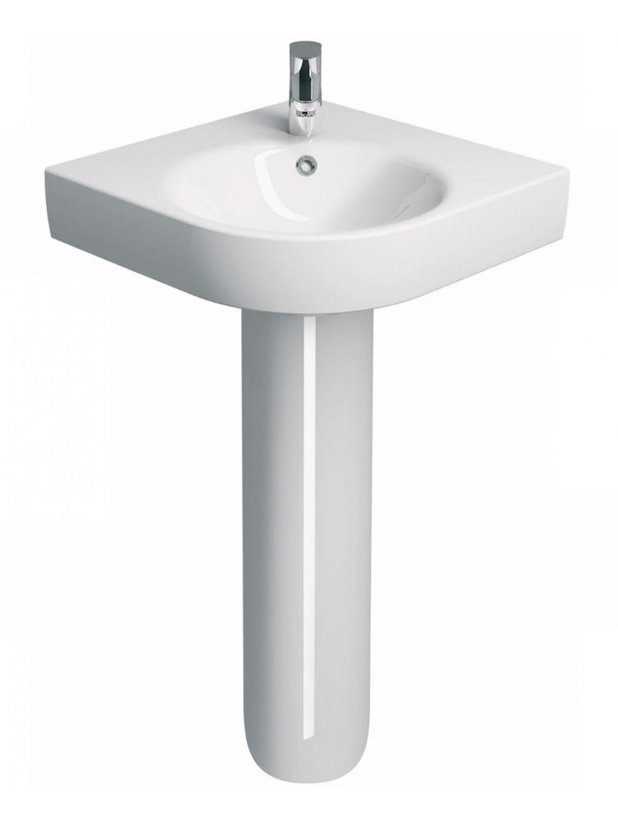Corner Pedestal Basin : Twyford E200 500 Corner Handrinse Basin & Pedestal