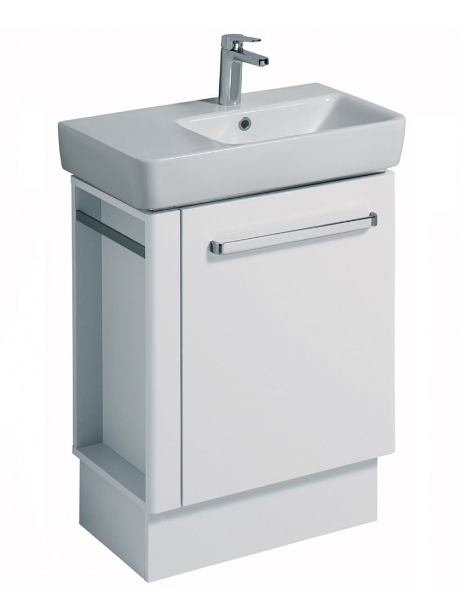 Twyford E200 650 White Vanity Unit Floor Standing with LH Towel Rail