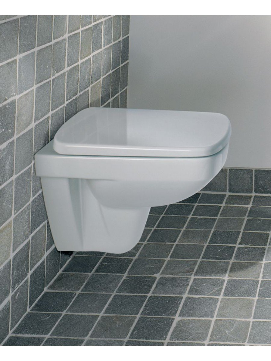 Twyford E200 Space Saver Wall Hung Toilet & Standard Seat - Short Projection 480mm