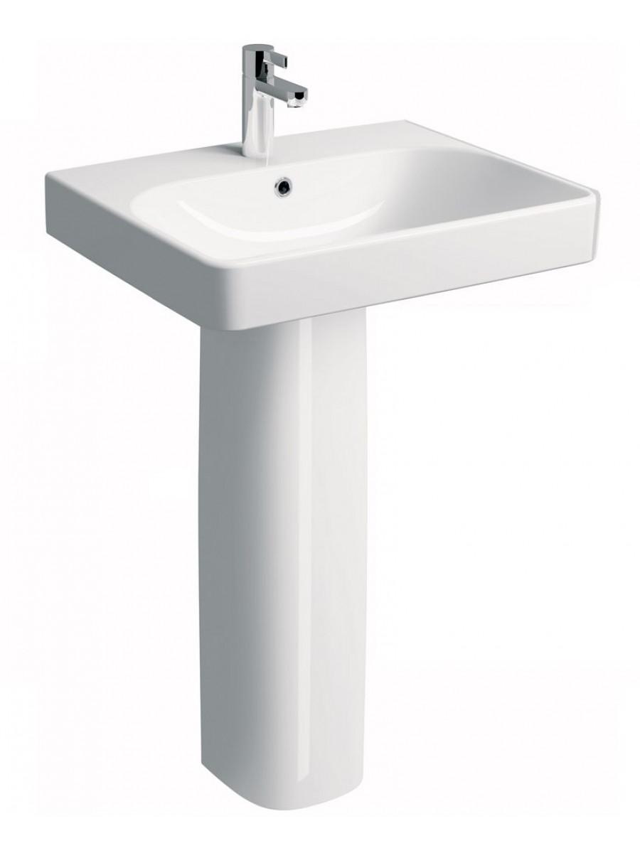 Twyford E500 Square 750 Basin & Pedestal