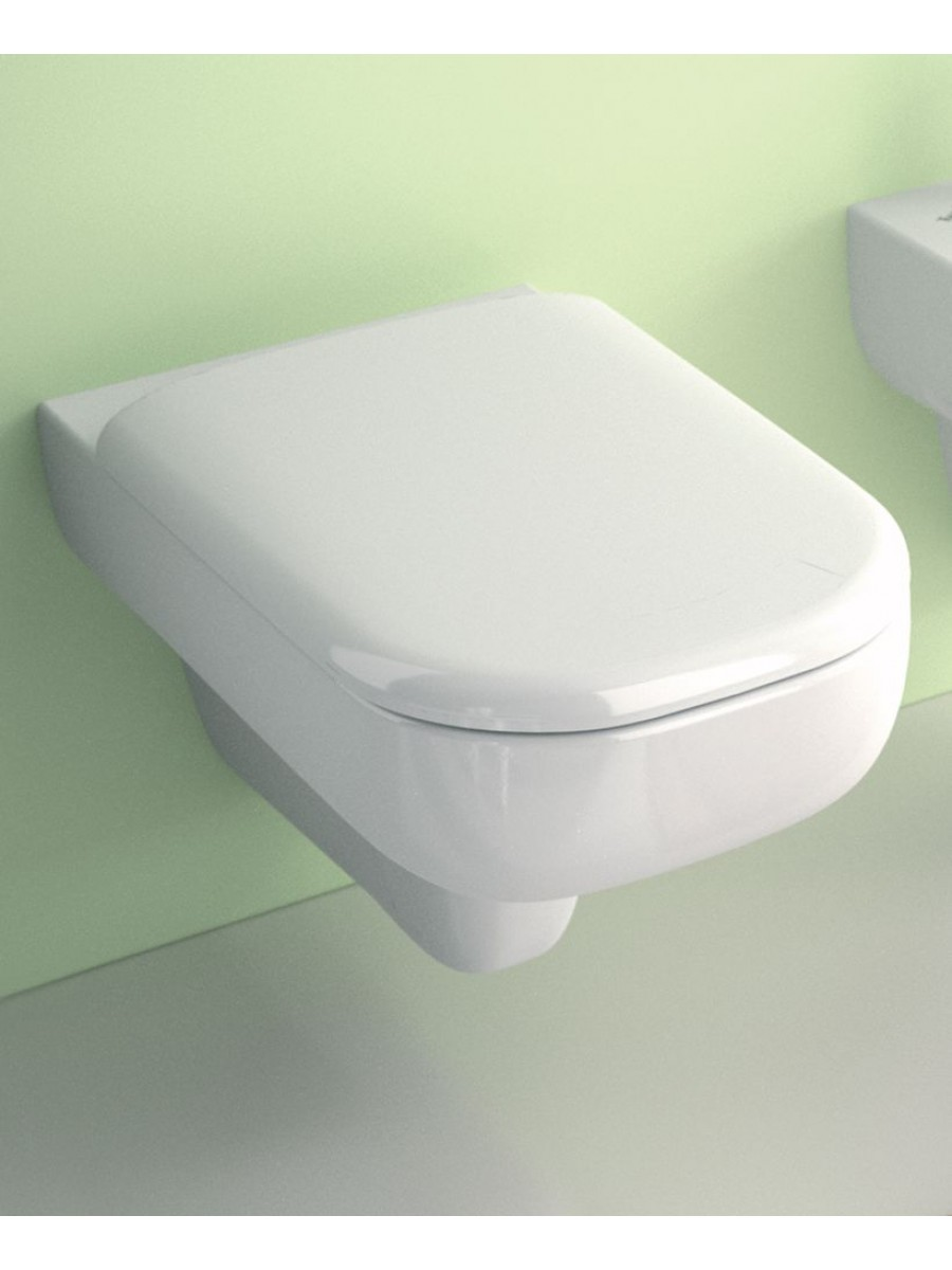 E500 Square Wall Hung Toilet Soft Close Seat