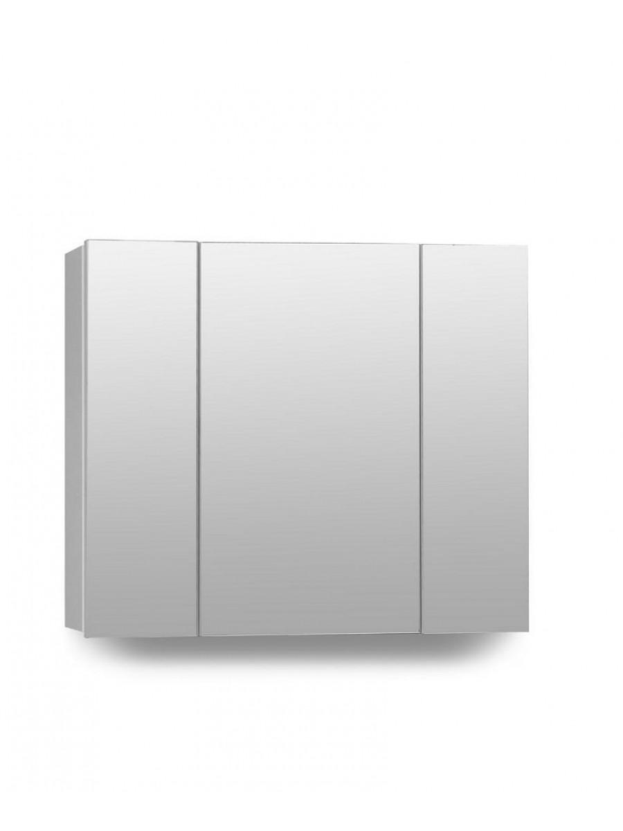 Hampstead 3 Door Mirror Cabinet 80cm White