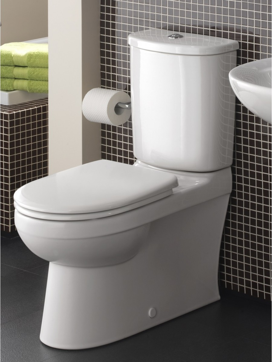 Twyford Flushwise® Galerie Fully Shrouded Close Coupled Toilet & Soft Close Seat