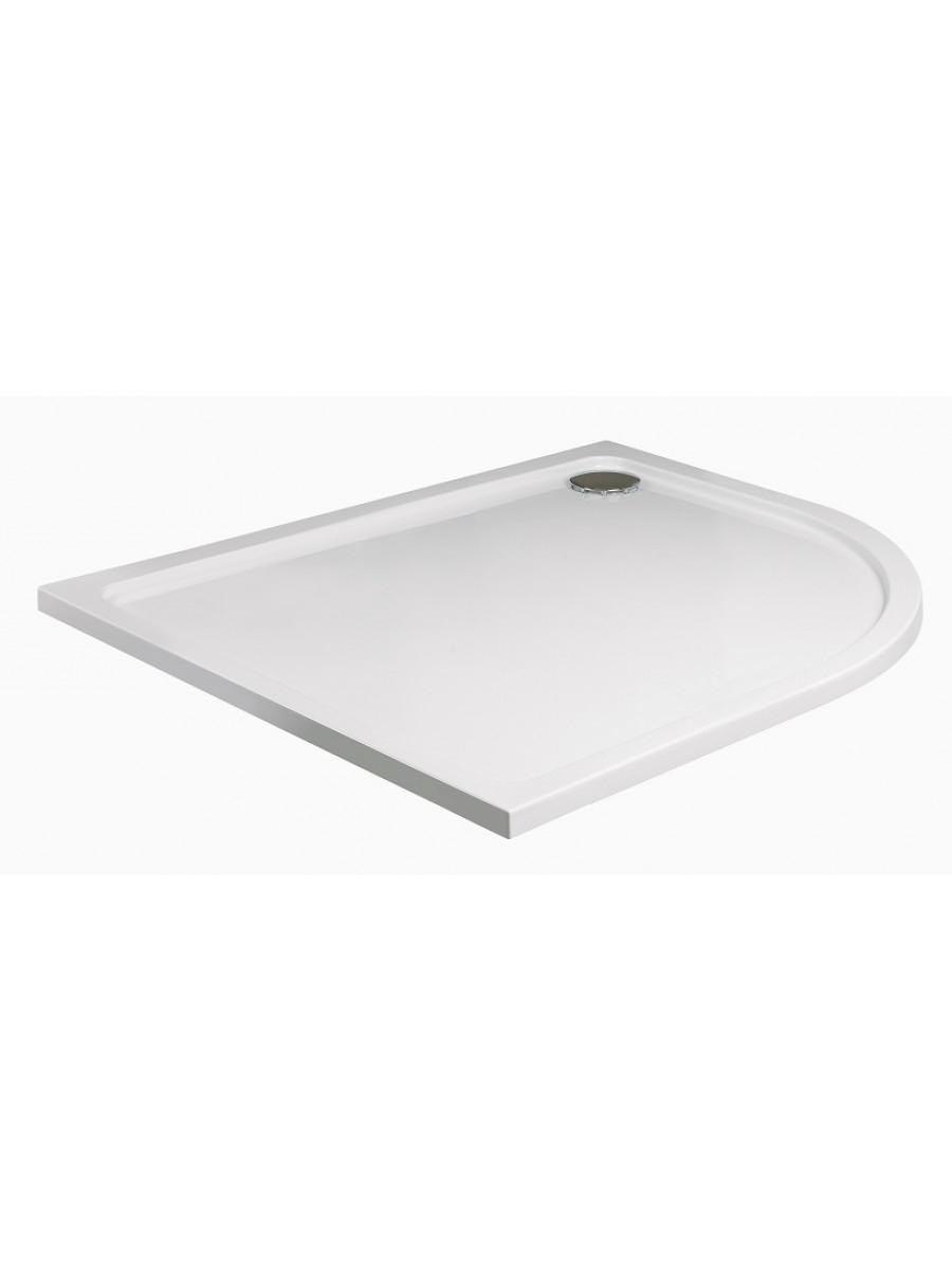 Slimline 1000 x 800 Offset Quadrant Shower Tray RH