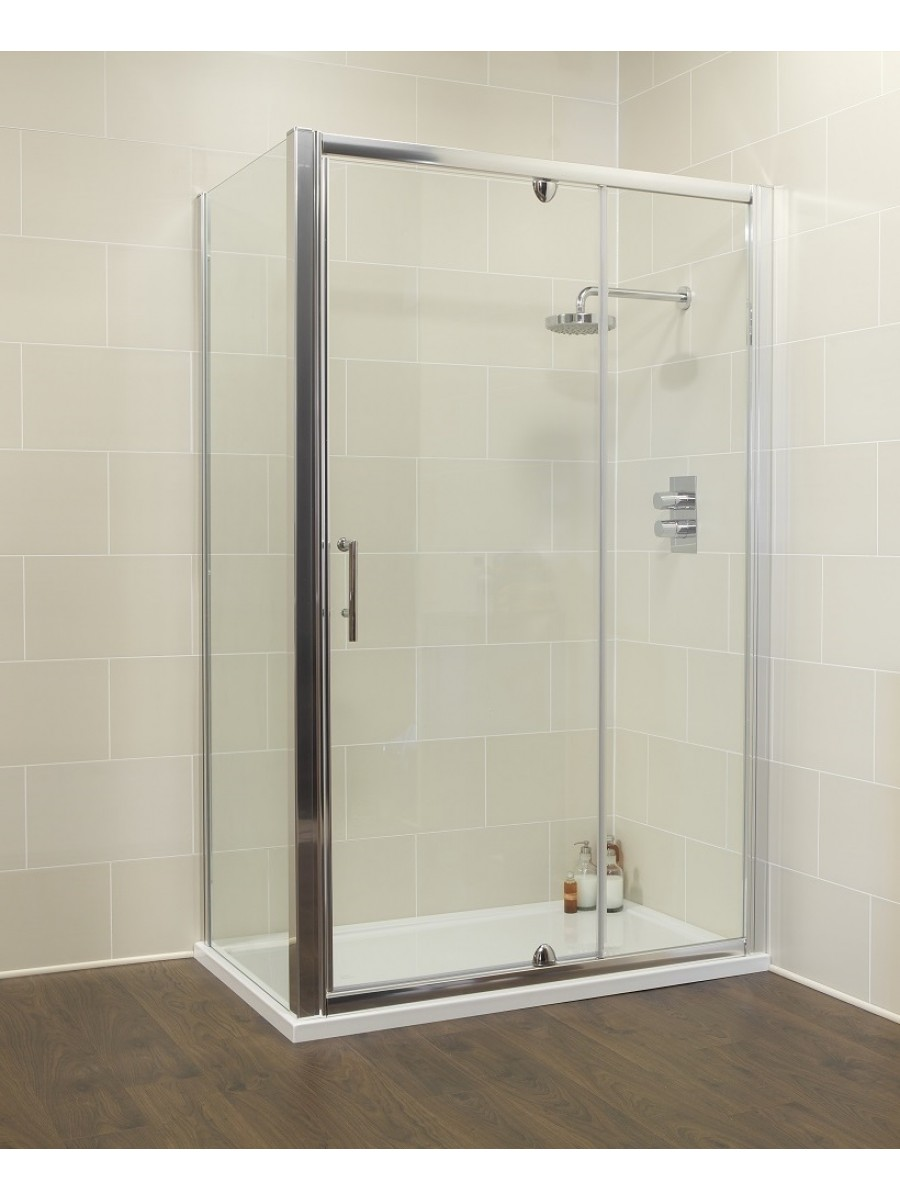 Kyra Range 1100 Pivot & Inline door with Side Panel