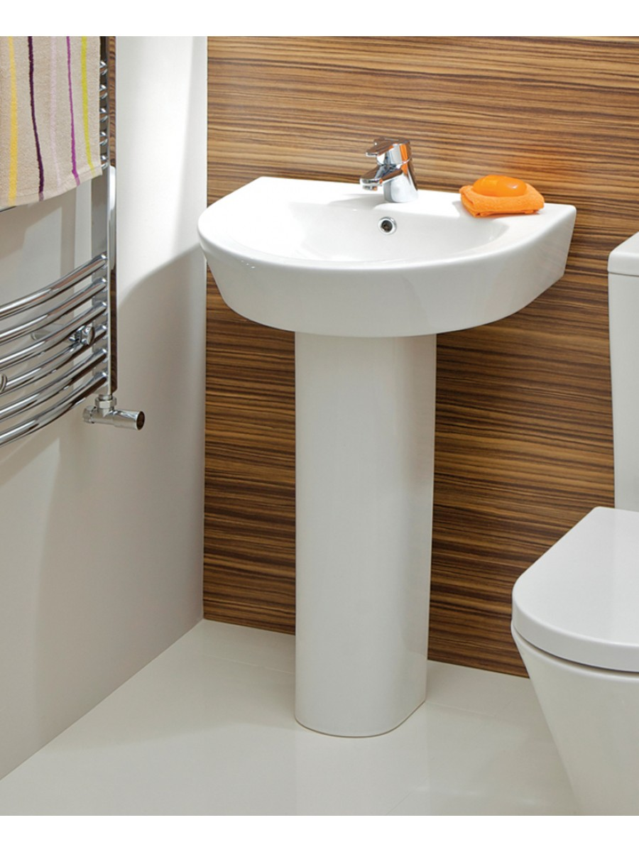 Curvo Basin 55cm & Pedestal - Wash Basin with Pedestal - Wash Basins ...