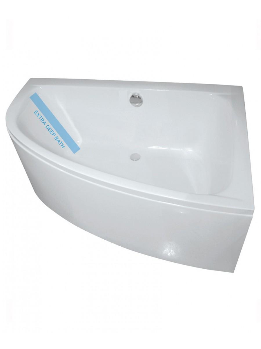 Mayfair 1500 x 1000mm Offset Corner Bath Right Hand & Bath Panel