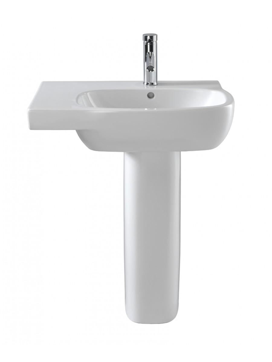 Twyford Moda Basin 65cm with Shelf LH & Pedestal