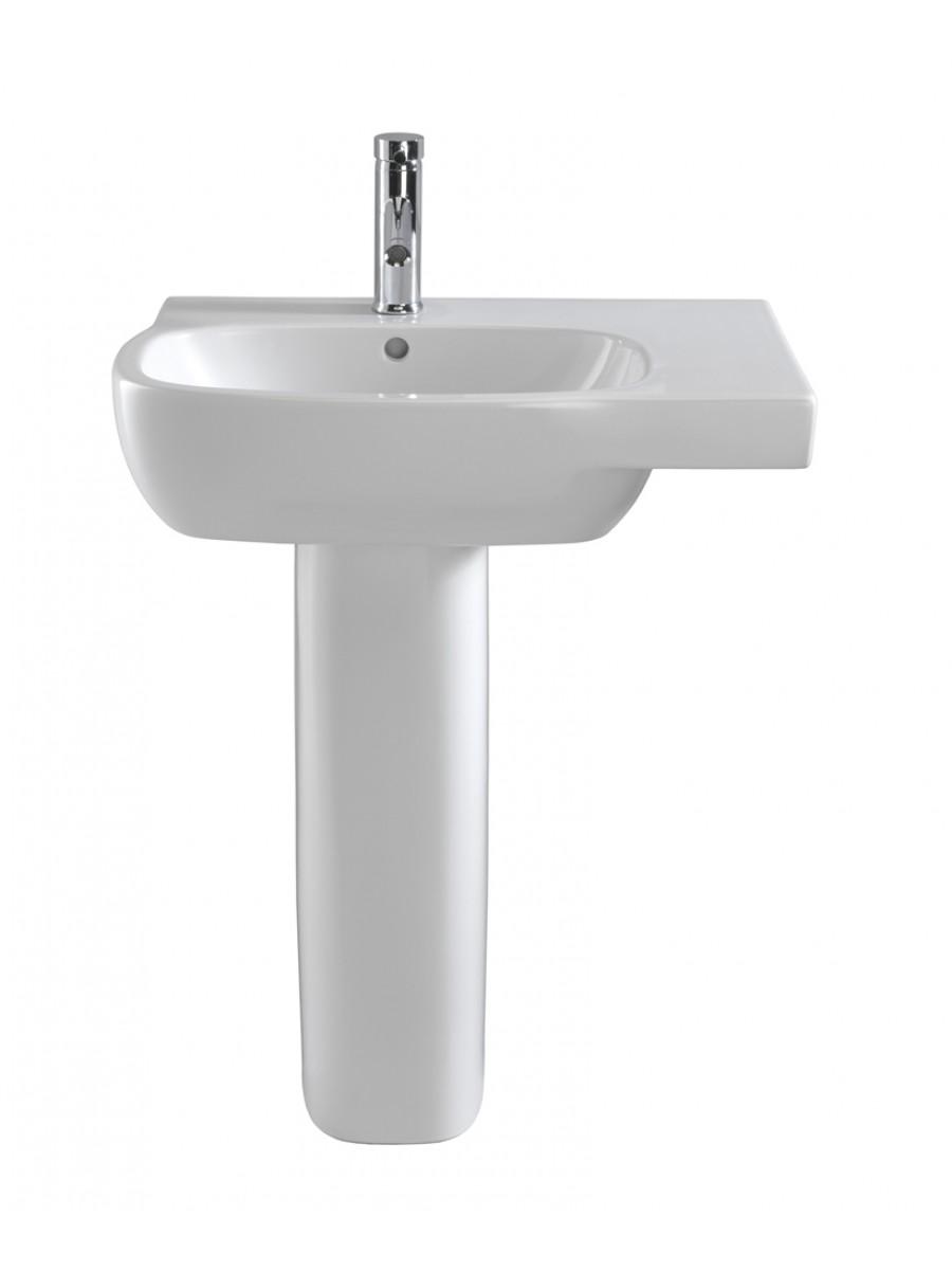 Twyford Moda Basin 65cm with Shelf RH & Pedestal