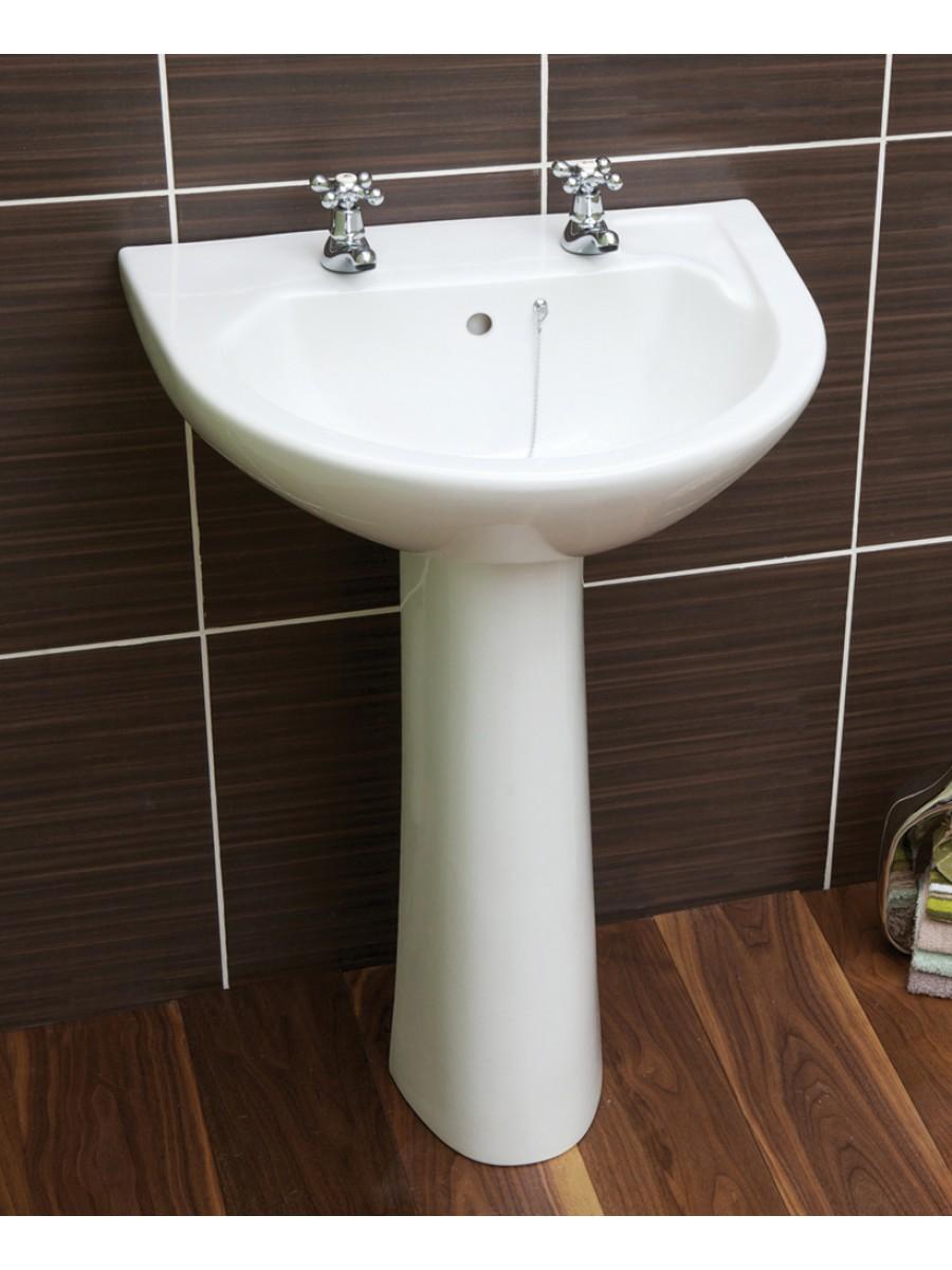 Twyford Option Basin 55cm  & Pedestal (2TH)