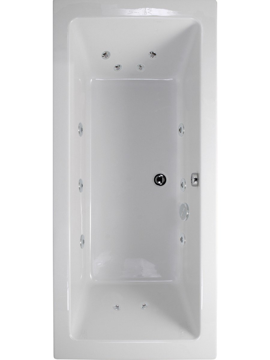 Duo 1800x800 Double Ended 12 Jet Whirlpool Bath - Extra Deep