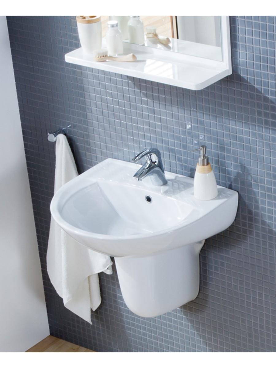 Basin 50cm & Semi Pedestal - Wash Basin with Semi Pedestal - Wash ...