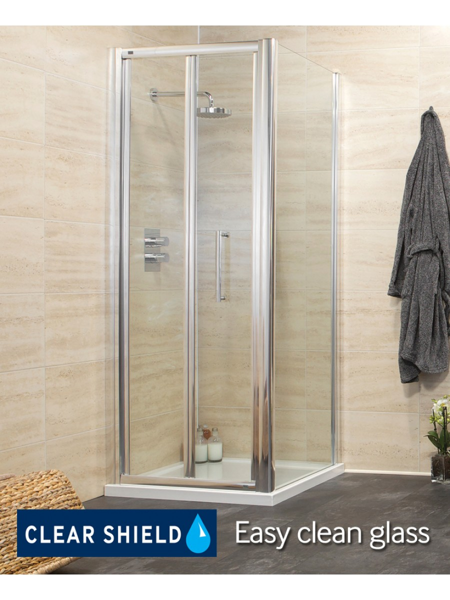 Rival Range 760 Bifold Shower Enclosure with Side panel