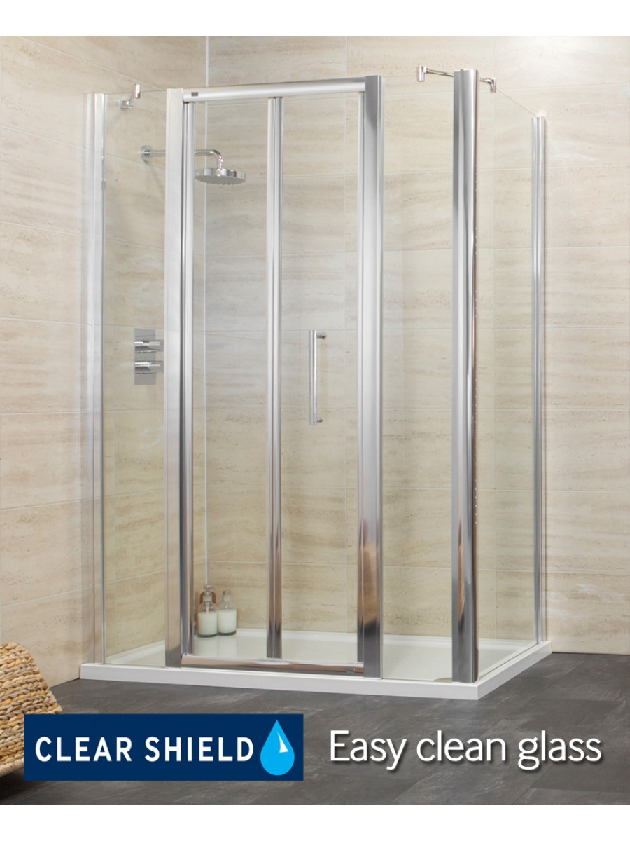 Rival 1600 Bifold Shower Enclosure with Two Infill Panels