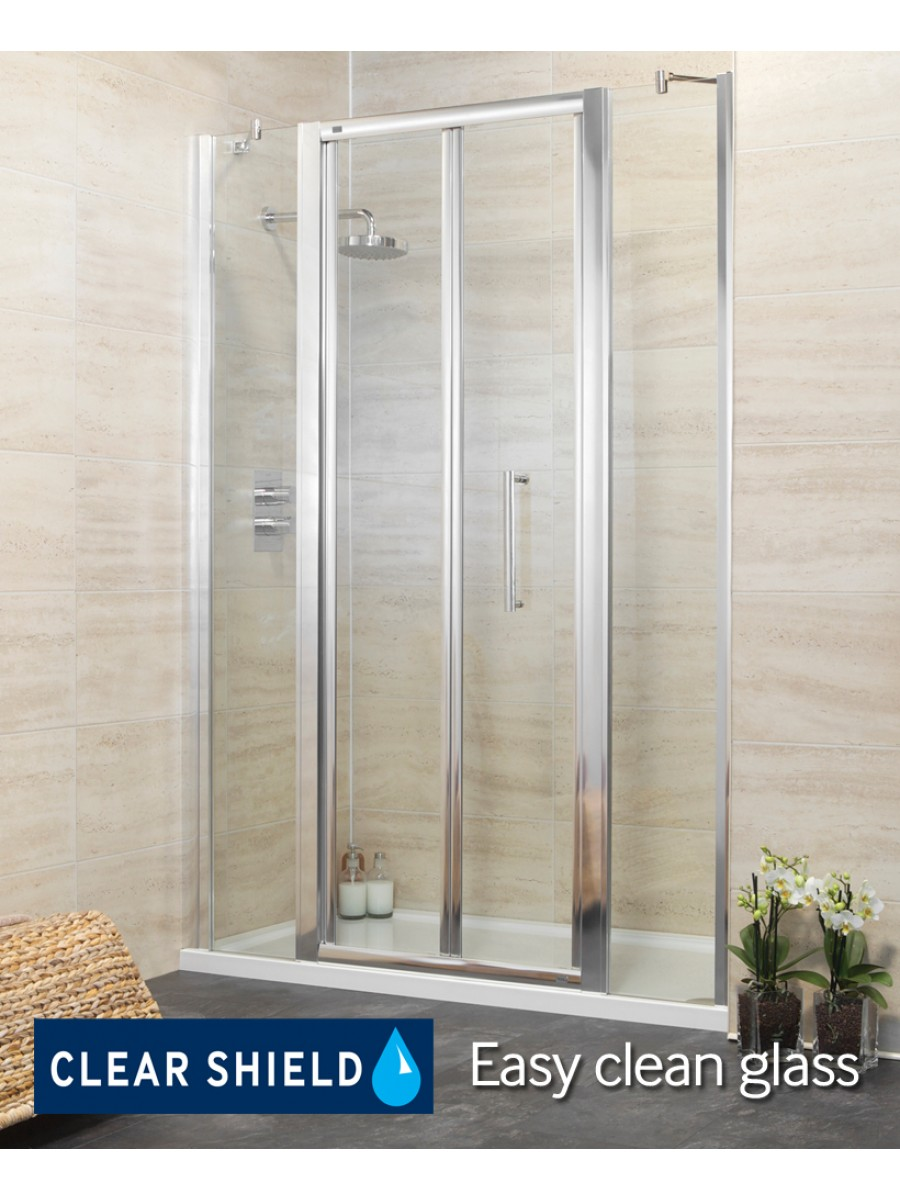 Rival 1400 Bifold Shower Door with Two Infill Panels - Adjustment 1340-1400mm