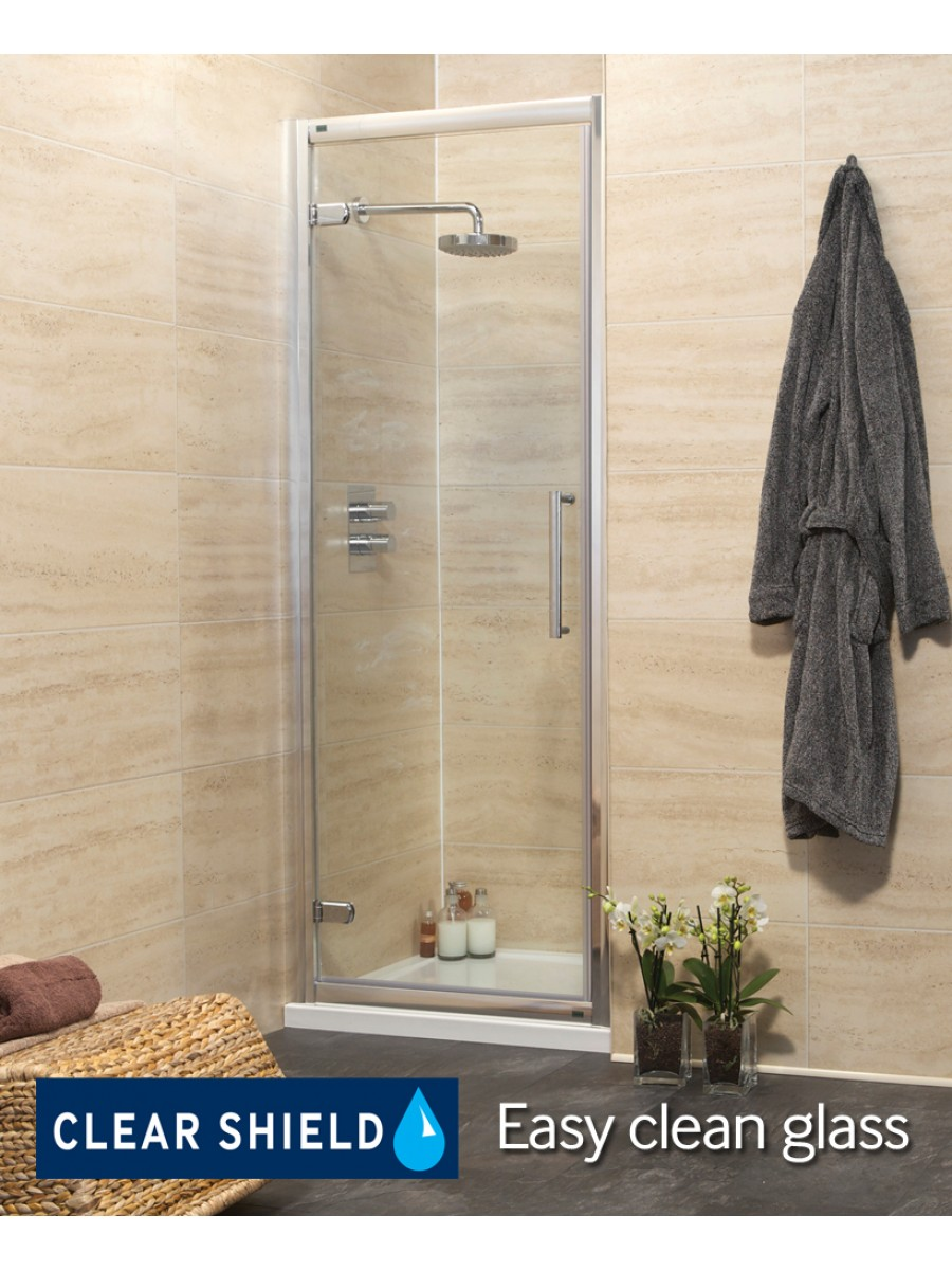 Rival Range 760 Hinge Shower Door - Adjustment 700-760mm