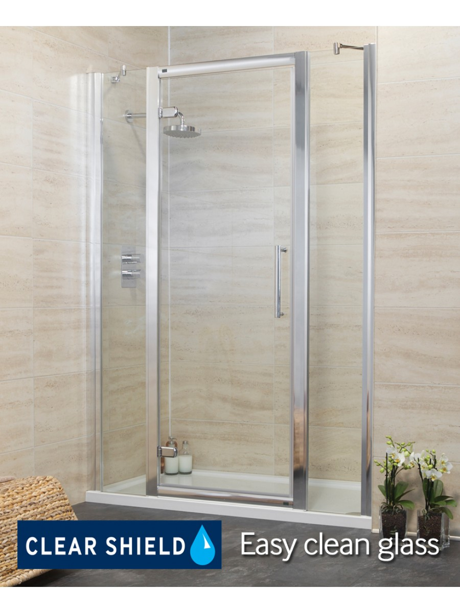 Rival 1400 Hinge Shower Door with Two Infill Panels - Adjustment 1340-1400mm