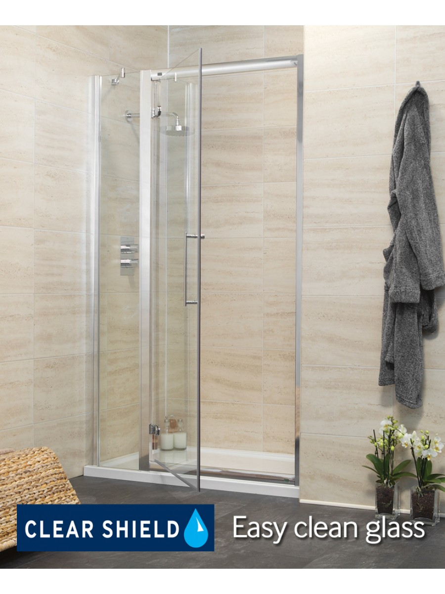 Rival 1100 Hinge Shower Door with Single Infill Panel - Adjustment 1040-1100mm