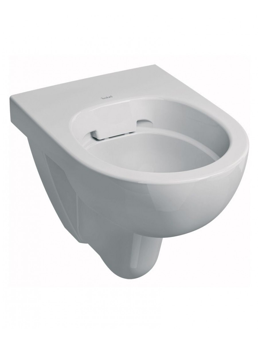 Twyford E100 Round Wall Hung Rimfree® Toilet with Soft Close Seat