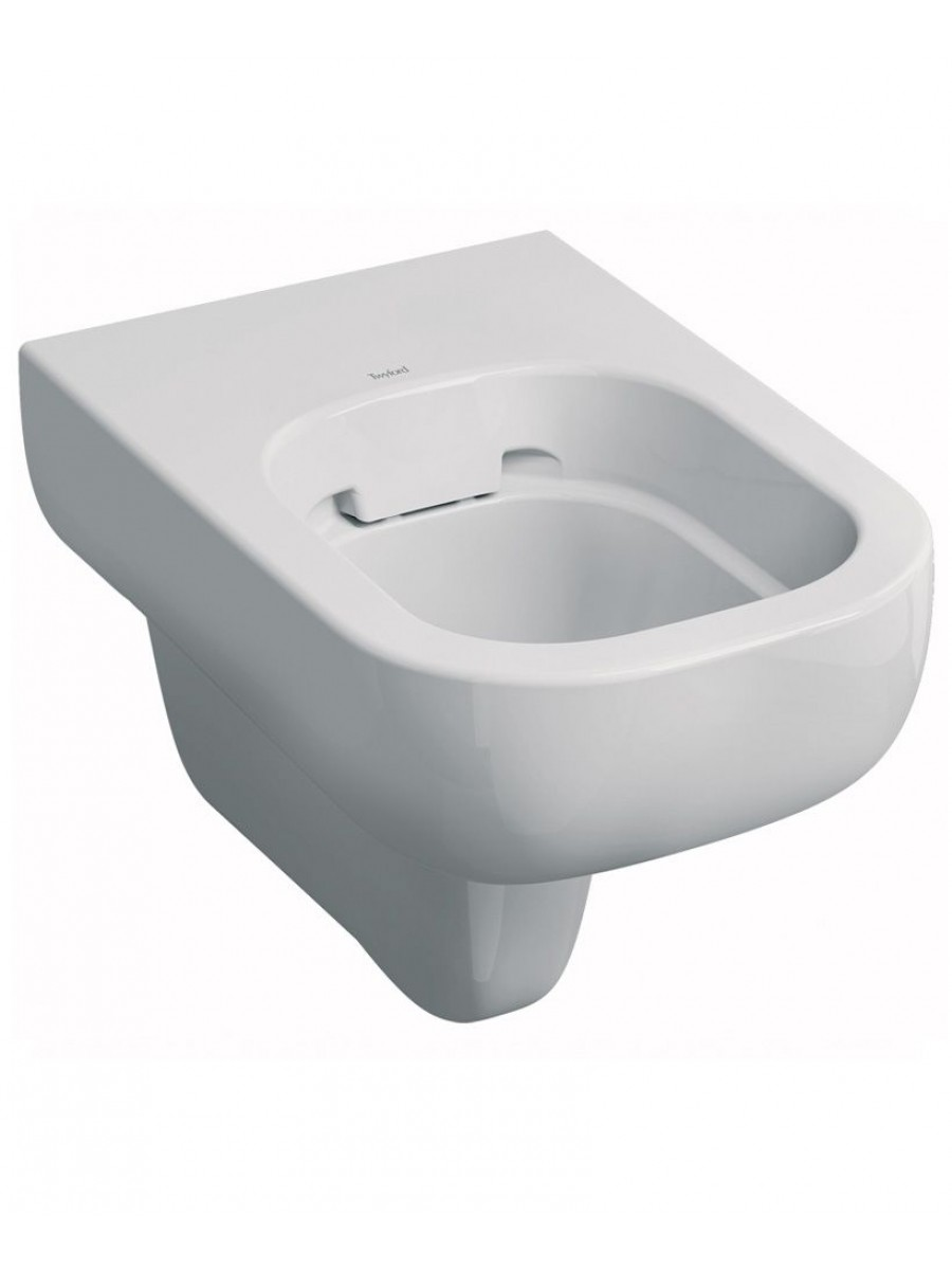 Round Wall Hung Basin : Twyford E500 Round Wall Hung Rimfree? Toilet with Seat