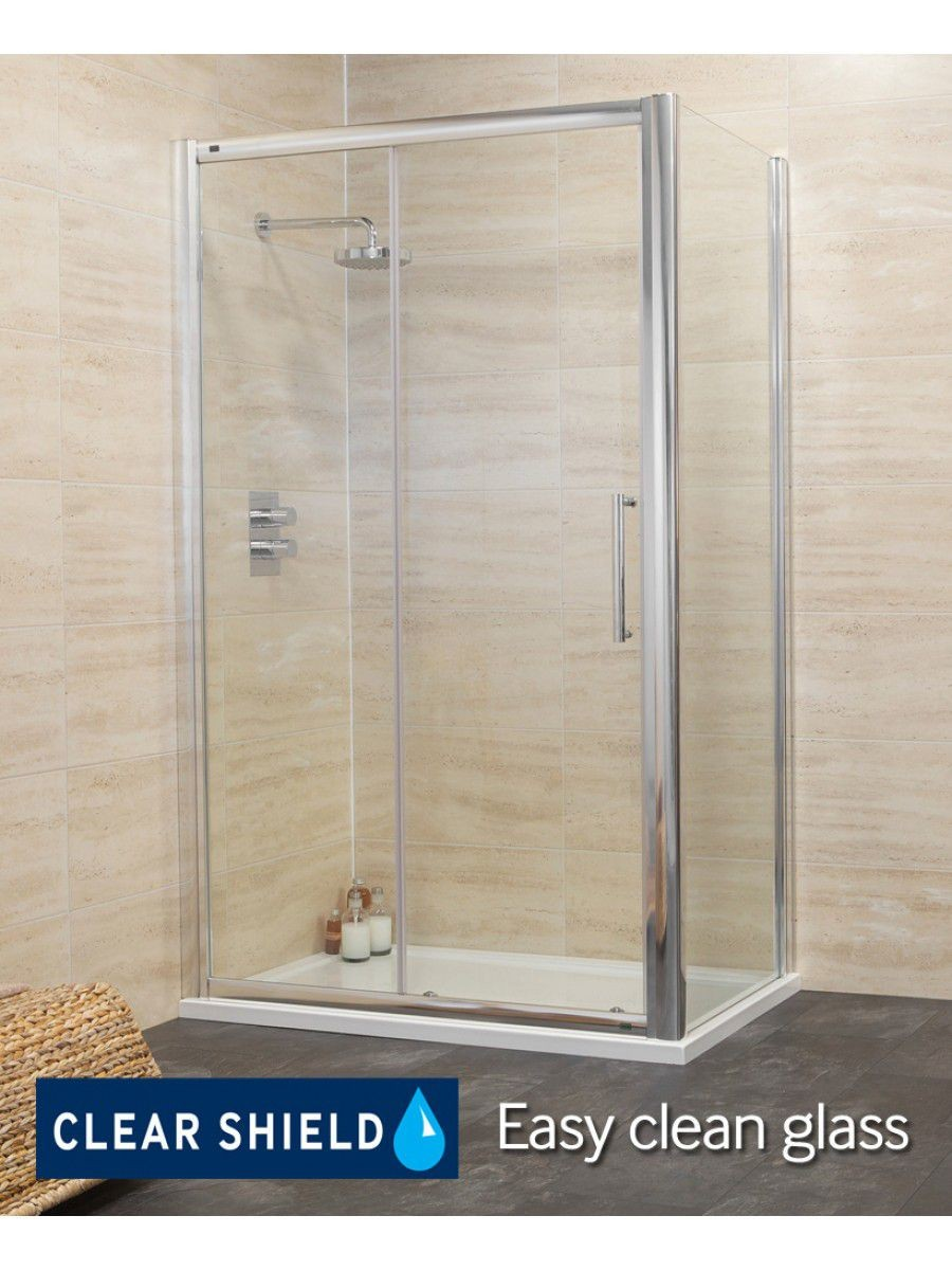 Rival Range 1400 x 800 sliding shower door