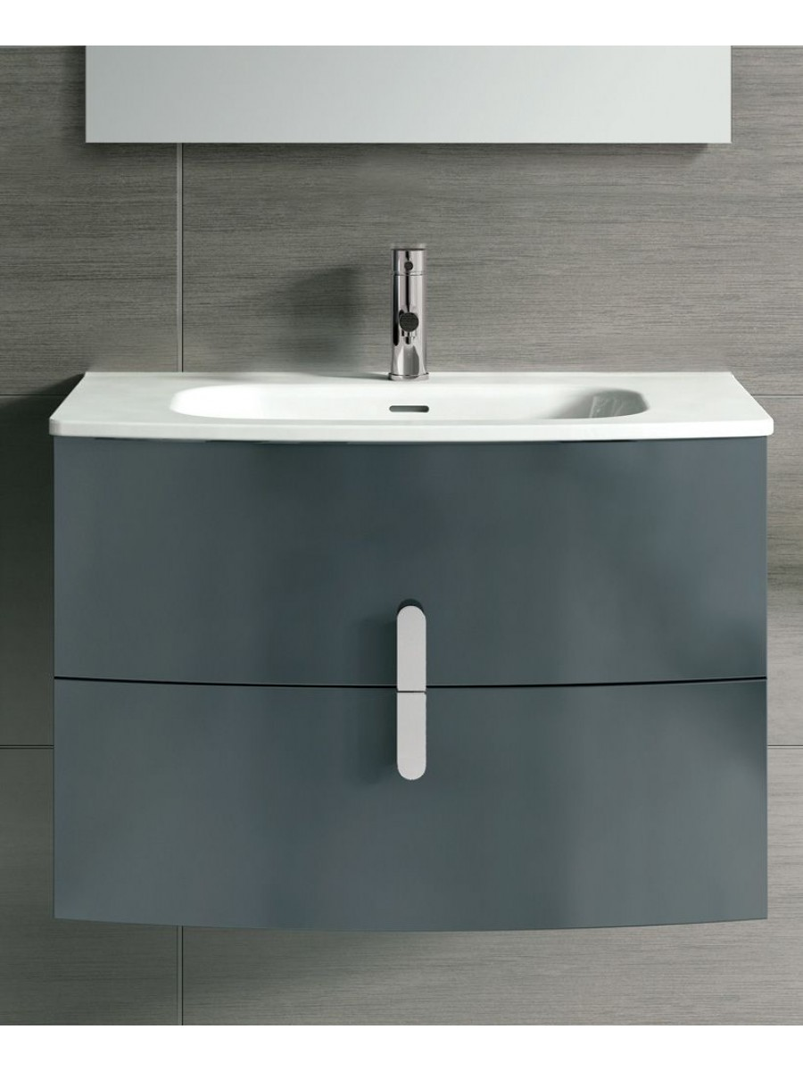 Contura Grey 100cm Vanity Unit 2 Drawer - REDUCED TO CLEAR