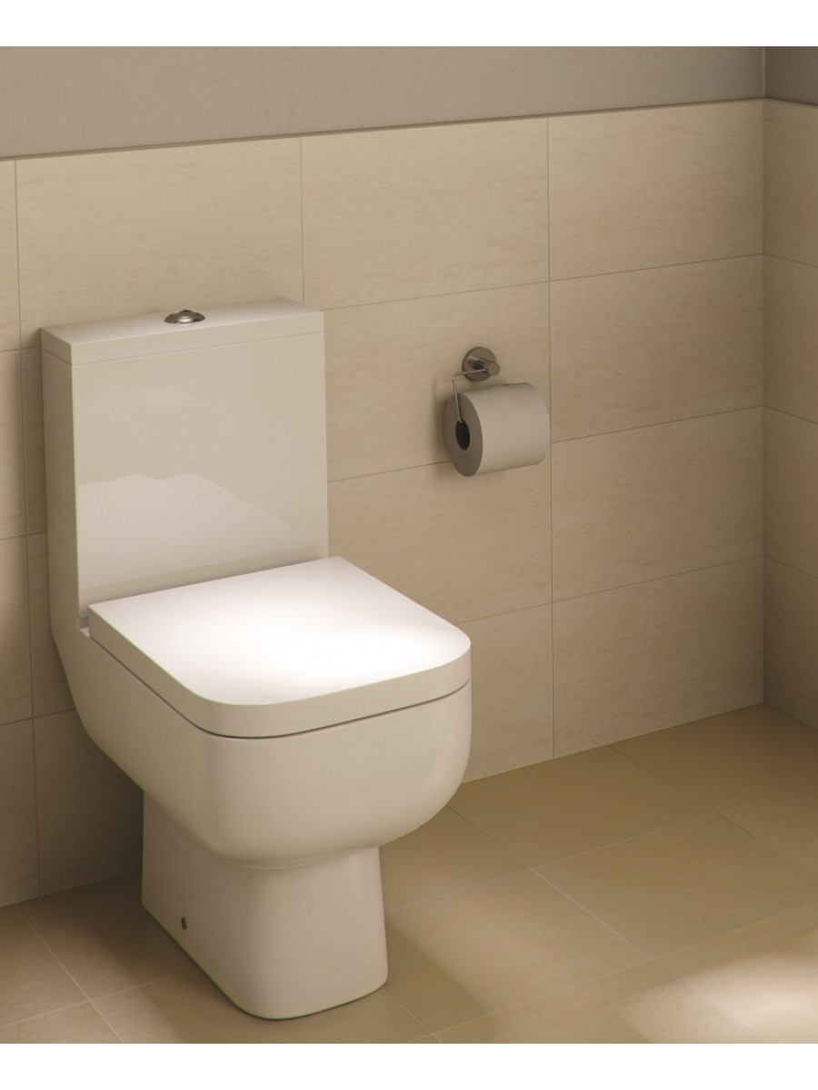 RAK Series 600 Close Coupled Toilet & Soft Close Seat - Short Projection - 595mm - PRICE INCLUDES PAN, CISTERN AND SEAT