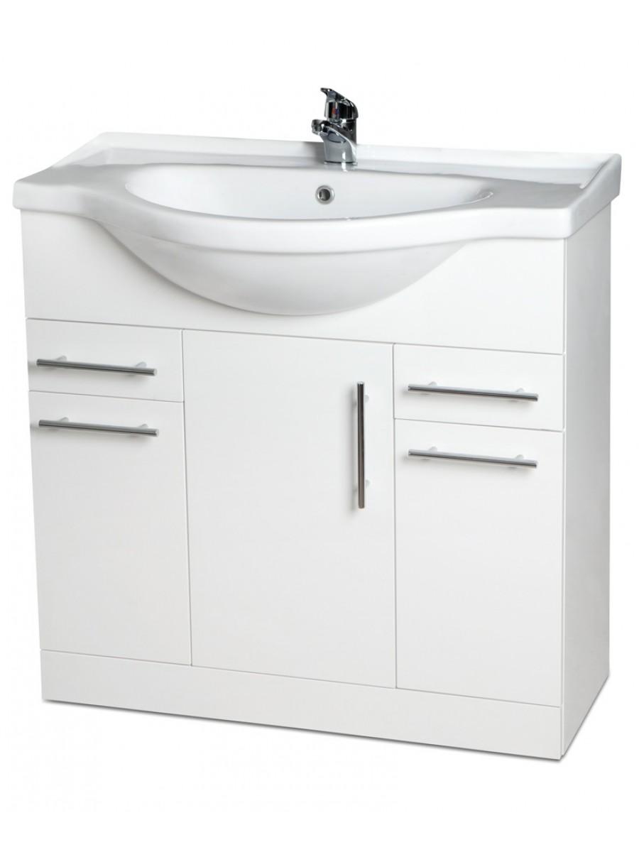 Blanco 85cm Vanity Unit, Basin & Tap & Basin Waste