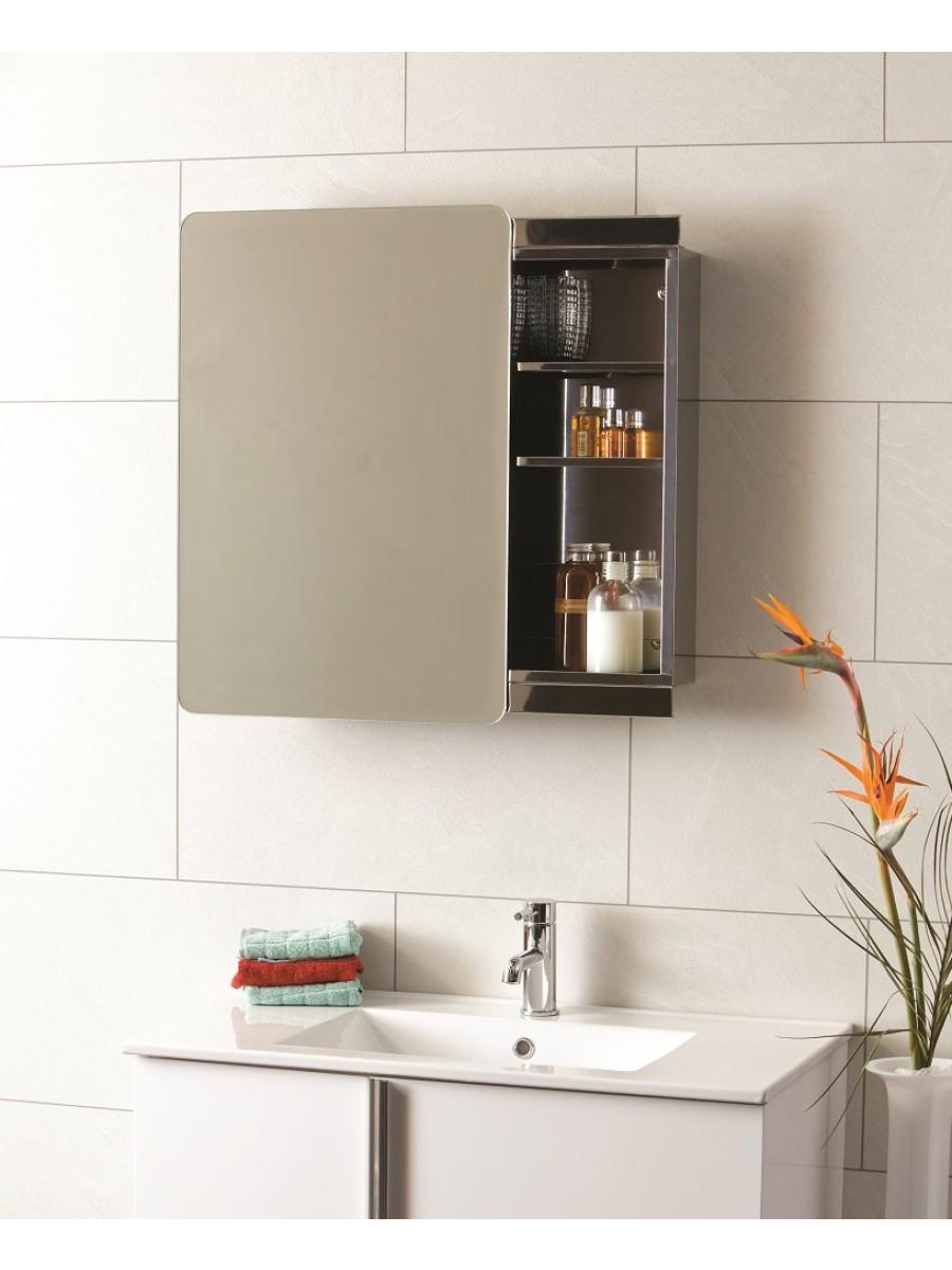Steel Sliding Door Mirror Cabinet 460 x 660