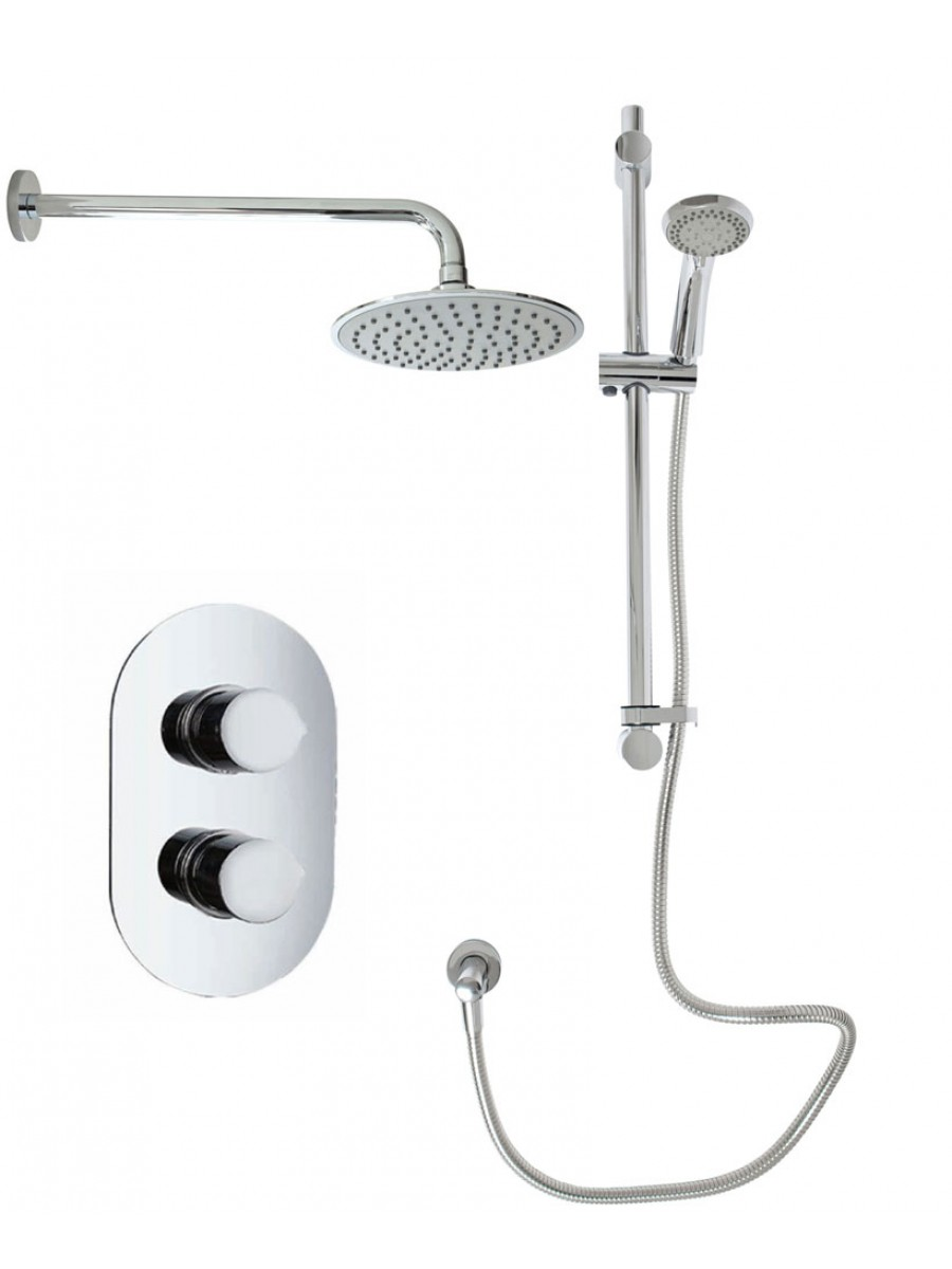 Jupiter Oval Thermostatic Shower Kit C