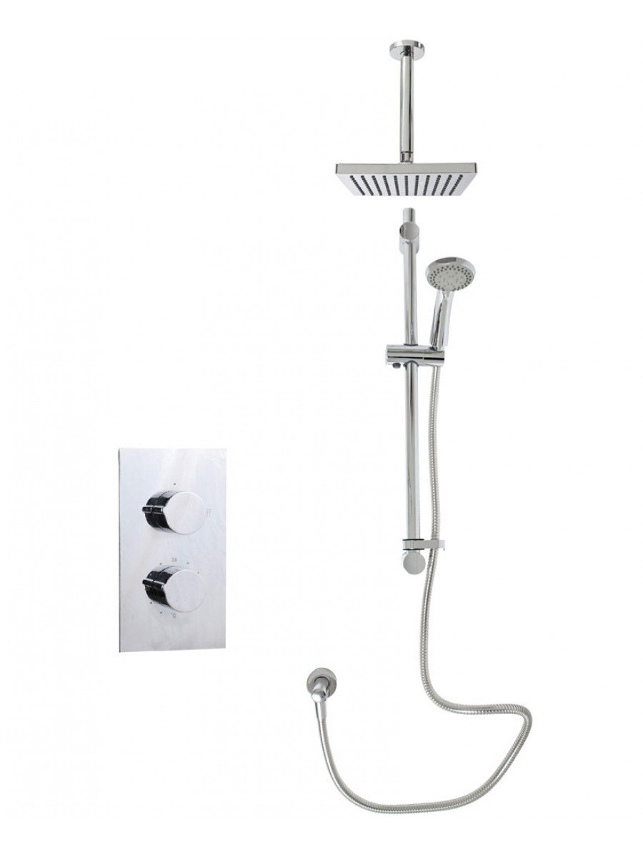Jupiter Rectangle Thermostatic Shower Kit B