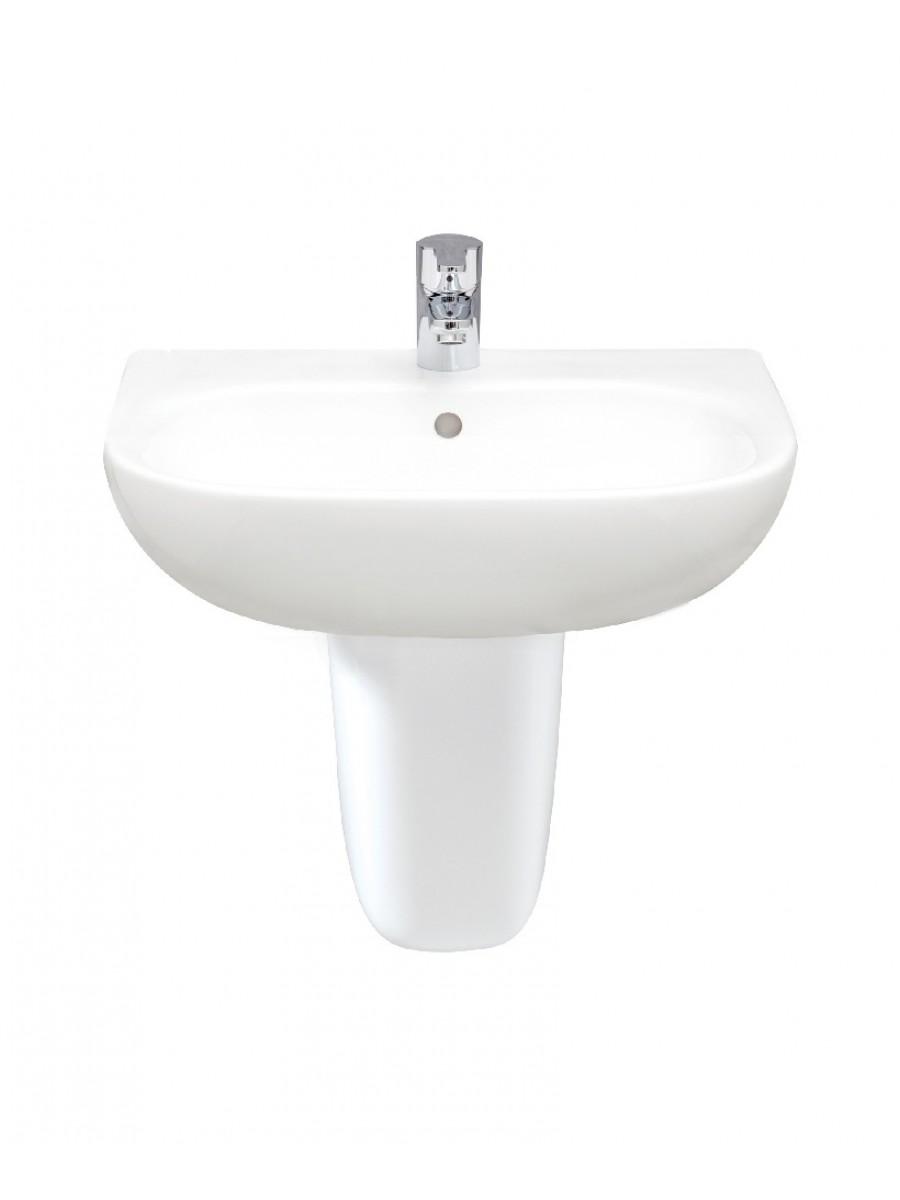 RAK Tonique 55cm Washbasin With Semi Pedestal